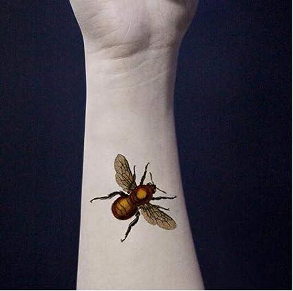 ZHAOHH Impermeable Tatuaje Temporal Pegatina Amarillo Naranja 3D ...