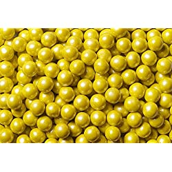 Sweetworks Shimmer Yellow Sixlets 1 lb Bag
