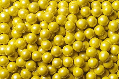 Sweetworks Shimmer Yellow Sixlets 1 lb Bag]()