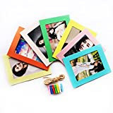 "Luffar 6"" Photo Frame Album DIY Picture Colours Frame with Hanging Clips Hemp Rope Pack of 7 (Multi-color)"