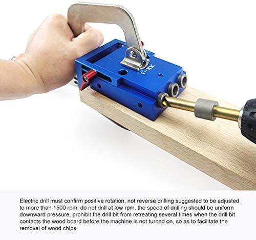XK 3ポケット穴ジグキット斜め穴ロケーター木工パンチャー斜め穴オープナー木工DIY家具ツール-ブルー