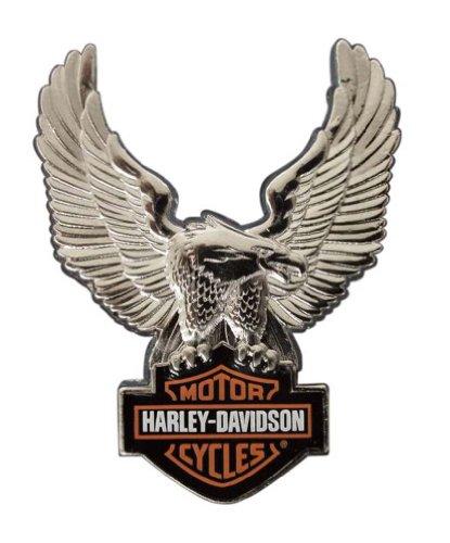 Harley-Davidson Silver Upwing Eagle Bar & Shield Pin P328064