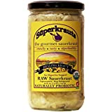 Healing SAUERKRAUT for Digestive Support - Organic & Kosher, 24 fl. oz., Raw Fermented, Unpasteurized, Probiotic. No Shipping charges with Minimum. 17 Flavors available!