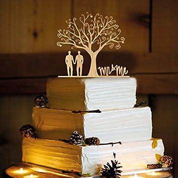 Amazon Com Rustic Wedding Cake Topper Gay Men Wa1004 Home