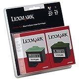 Lexmark Twin Pack #17 Black and #27 Color Print Cartridges-10N0595