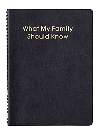 Trenton Gifts What My Family Should Know Records Book, Estate Planning Notebook