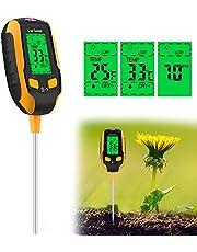 Vakdon 4-in-1 Soil Tester,Soil Moisture Meter,Plant Moisture/Light/pH Acidity Meter Tester,Soil Water Monitor for Garden, Indoor & Outdoor,Farm, Lawn Use (S1)