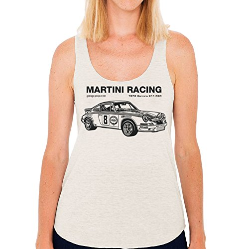 GarageProject101 1973 Porsche 911 RSR Martini Racing Women's Tank Top (Junior Size) S - Martini Racing Shirt