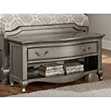 Hillsdale Kids and Teens 30590 Kensington Dressing Bench, Antique Silver