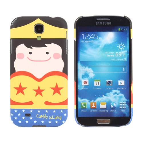 Candy Island Snap on Hard Case Cover for Samsung Galaxy S4 IV i9500 (Wonder Woman)
