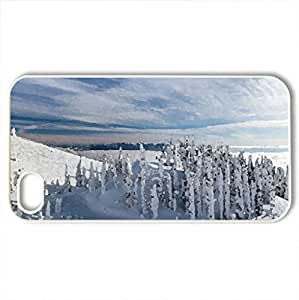 Beautiful winter - Case Cover for iPhone 4 and 4s (Winter Series, Watercolor style, White)