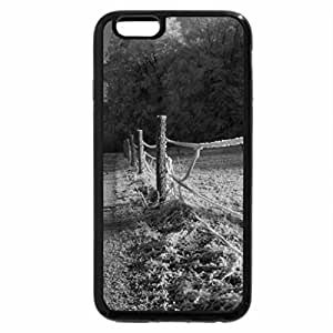 iPhone 6S Case, iPhone 6 Case (Black & White) - frosty country road