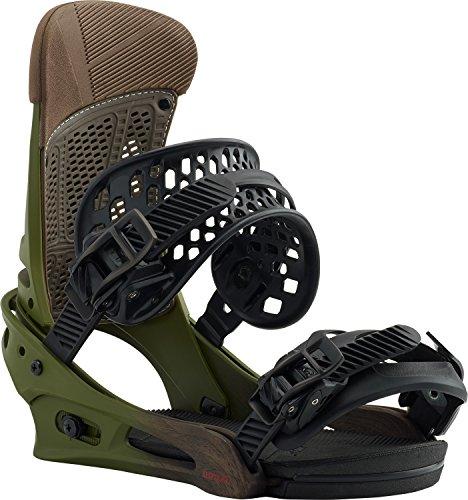 Burton Custom Bindings - Burton Malavita Snowboard Bindings Camp on Green Sz M (8-11)