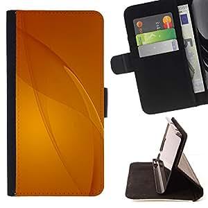 Momo Phone Case / Flip Funda de Cuero Case Cover - Beige Amarillo Líneas abstractas - Samsung Galaxy J3 GSM-J300