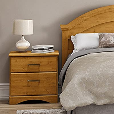 South Shore Cabana 2 Drawer Nightstand - Country Pine