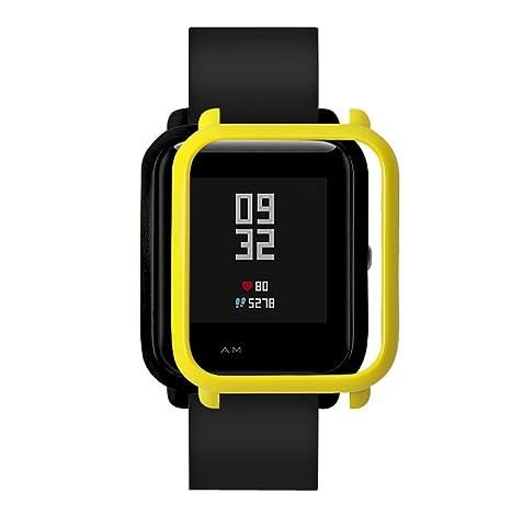 Saisiyiky Protection pour montre connectée Xiaomi Huami Amazfit Bip Youth Cadre coloré Polycarbonate, citronier: Amazon.fr: Sports et Loisirs