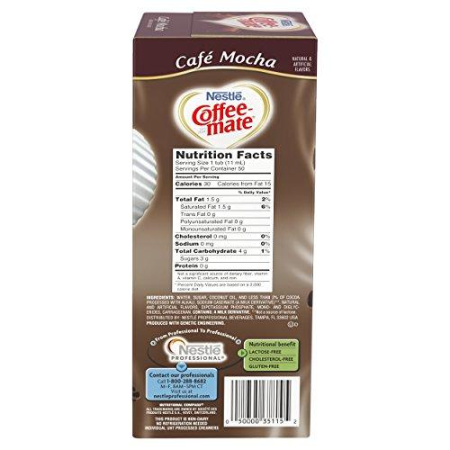 NESTLE COFFEE-MATE Coffee Creamer, Cafe Mocha, liquid creamer singles, Pack of 200 by Nestle Coffee Mate (Image #2)