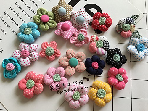 Custom handmade cloth Sen Deparent of small fresh wave point five colored flower brooch corsage pins Childrens Clothing Accessories