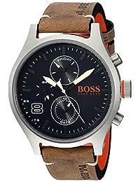 HUGO BOSS Men's 1550021 Sport 49mm/ Multi/ 5atm/ Ss Case/Grey Leather Strap Watch
