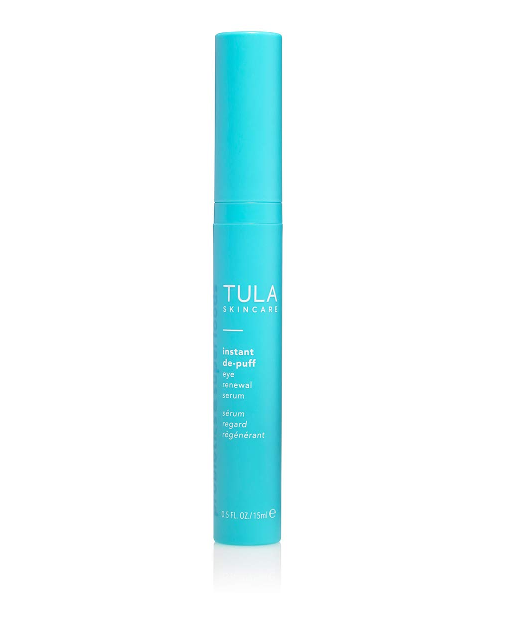 TULA Probiotic Skin Care Instant De-Puff Eye Renewal Serum | Dark Circles Under Eye Treatment, Contains Caffeine to Reduce Puffiness and Signs of Wrinkles | 0.5 fl oz