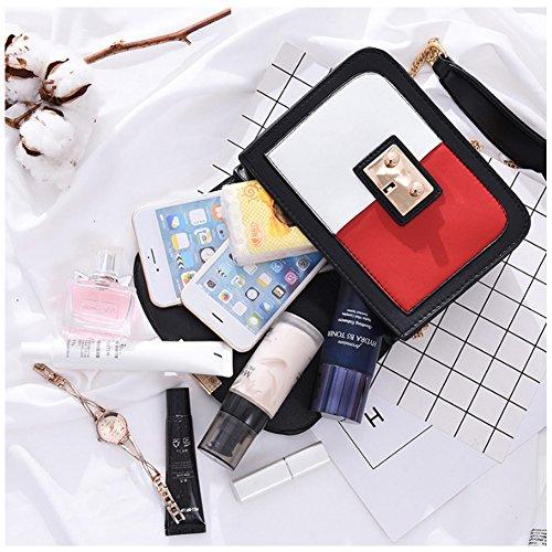 Yoome tessuto borsa a catena a contrasto colore borse e borse per ragazzi borse da cartone per le donne