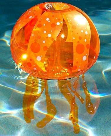 Set of 4 Banzai Inflatable Jellyfish Bubble Light Set