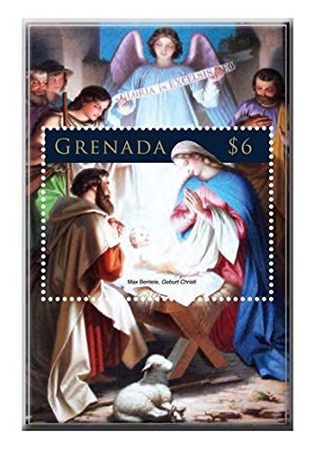 Christmas Paintings - Nativity - Beautiful Collectors Stamps - ()