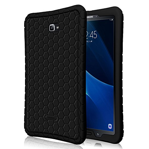 Price comparison product image Fintie Samsung Galaxy Tab A 10.1 Case, [Honey Comb Series] Light Weight Shock Proof Silicone Cover [Anti Slip] [Kids Friendly] for Tab A 10.1 Inch (NO S Pen Version SM-T580/T585/T587) Tablet, Black