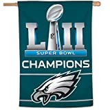 "Philadelphia Eagles Super Bowl LII 52 Champions Vertical Banner Flag - 28"" X 40"""