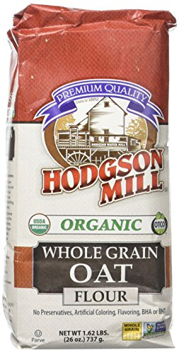 Hodgson Mill Organic Whole Grain Oat Flour 26-Ounce Sack (Pack of 6), Certified Organic Oat Bran Flour, Great Alternative to Wheat (Organic Oat Flour)