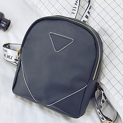 Gray Shoulder Bag Leather Women Allywit Schoolbags Travel Backpacks XBxq0cZw4