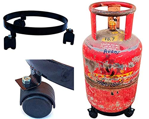 Avani MetroBuzz LPG Cylinder Trolley Easily Movable Stand with Wheels,Gas Cylinder Stands Price & Reviews