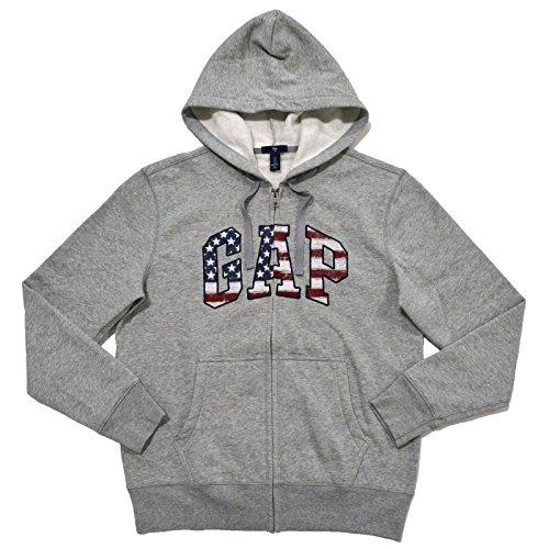 gap-mens-fleece-arch-logo-full-zip-hoodie-m-usa-gray