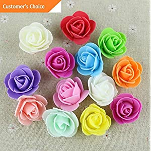 Hebel 50Pcs 3.5cm Foam Roses Artificial Flower Wedding Bride Bouquet Party Decor Cal | Model ARTFCL - 264 | 65