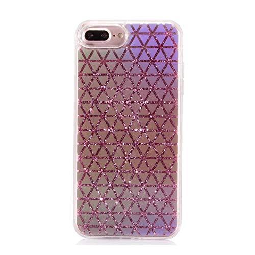 (Bling Glitter Fish Scales Lattice Liquid Quicksand Phone Back case for iPhone 6 6s Plus Case for iPhone 8 X 6S Plus 7 Plus Capa,3,for iPhone 6 6S)