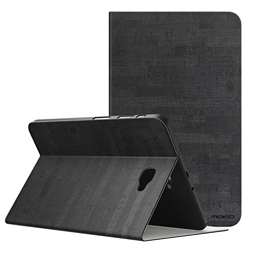 Moko Samsung Galaxy Tab A 10.1 Case - Lightweight Stand Scratch Proof Folio Cover Case Protector Holder w/Auto Wake Sleep for Galaxy Tab A 10.1 Inch Tablet (SM-T580/T585, No Pen Version), Slate Black