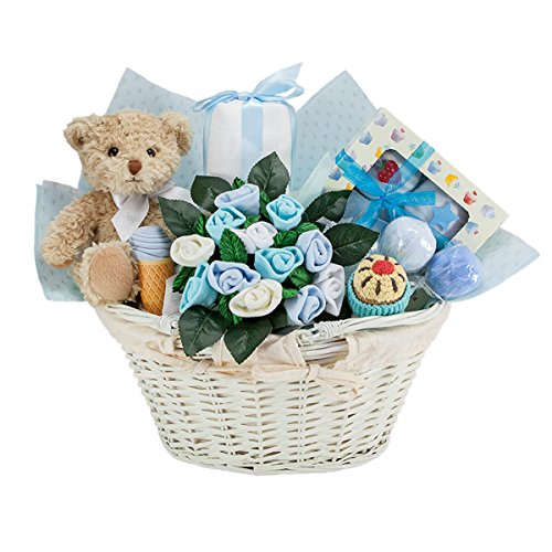NEW BABY BOY GIFT BASKET - BLUE by Babyblooms (Image #7)