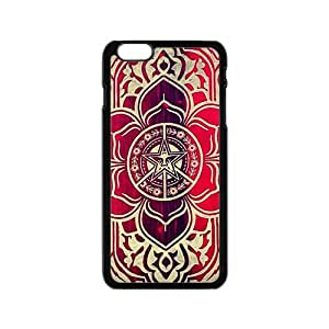 peace and justice obey Red star flowers Cell Phone Case for Iphone 6