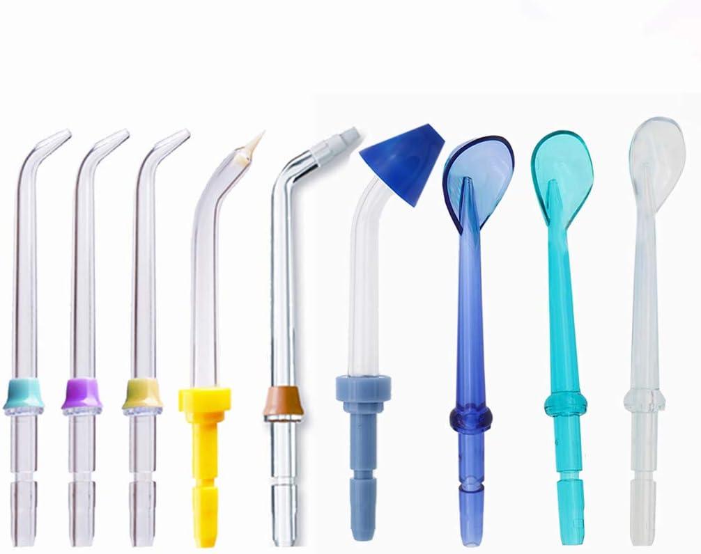 LHKJ Boquillas de Irrigador Dental Clásico de Reemplazo, Rociador de la oral para Waterpik Water Flossers (Like WP-100) y Otros Irrigadores Bucales(9 psc)