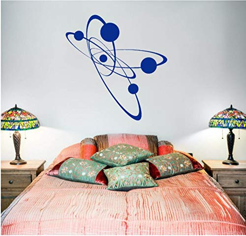 Wsqyf Simple Removable Wall Vinyl Atomic Electronic Bedroom Art Mural Decorative Vinyl Decal for Science Dreams for Kids 42X43Cm