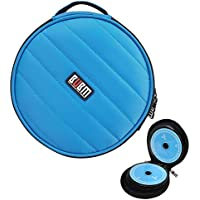 CD/DVD Portable Carry Wallet BUBM 32 CD Disc Capacity Waterproof Storage Case for Car Home and Travel Blue