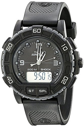 Timex Men's TW4B00800 Expedition Double Shock Black Resin Strap Watch