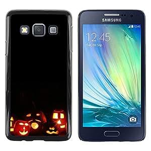 Be Good Phone Accessory // Dura Cáscara cubierta Protectora Caso Carcasa Funda de Protección para Samsung Galaxy A3 SM-A300 // Halloween Autumn Fall Pumpkin