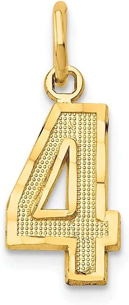 14k Small Sparkle Cut Sport game Number Charm Pendant Necklace Jewelry Gifts for Women in White Gold Yellow Gold Choice of Numbers and Variety of Options