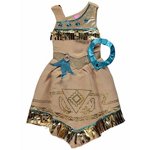[New George Disney Princess Pocahontas Fancy Dress Costume Outfit [3-4Y]] (Pocahontas Dress)