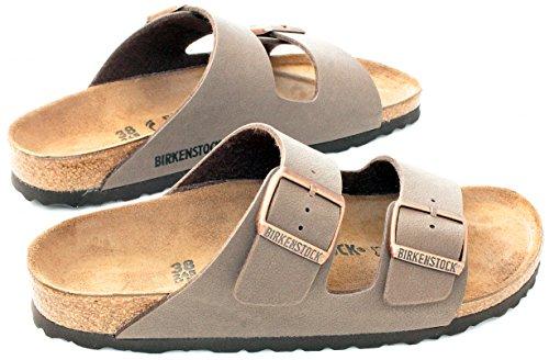 Birkenstock Arizona Mocha Birko-Flor 'Narrow Fit' Women's Sandals (9-9.5 US Women - 40 N EU) by Birkenstock (Image #4)