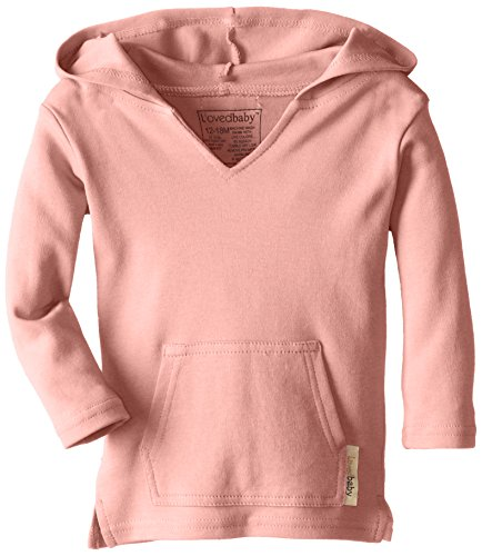 L'ovedbaby Unisex-Baby Newborn Organic Hoodie, Coral, 18/24 Months (Best Brands For Children's Clothes In India)