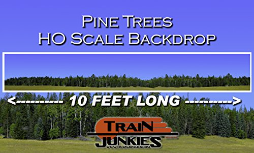 Car Slot Layouts Ho - Train Junkies Pine Forest - Railroad Backdrop HO OO Scale