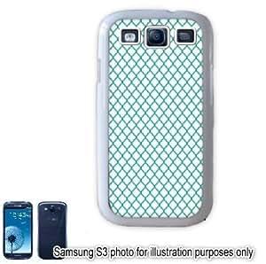 Green Mini Quatrefoil Pattern Samsung Galaxy S3 i9300 Case Cover Skin White
