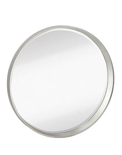 Amazon.com: Majestic Mirror Modern Round Silver Frame Glass Wall ...